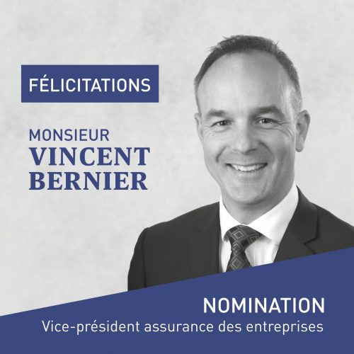 Avis nomination VincentBernier